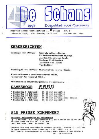 Castenrays dorpsblad De Schans 1998-02-05