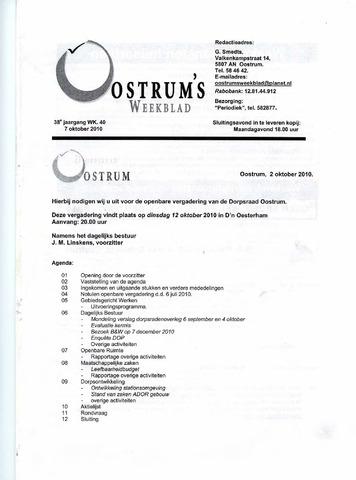 Oostrum's Weekblad 2010-10-07