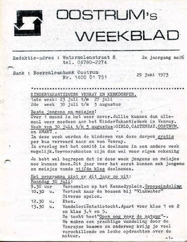 Oostrum's Weekblad 1973-06-29