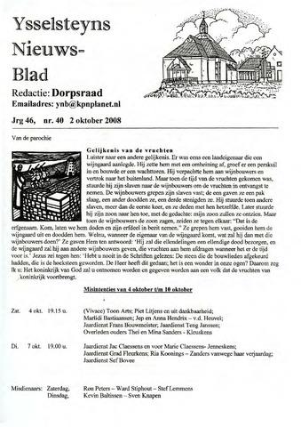 Ysselsteyns Nieuwsblad 2008-10-02