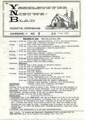 Ysselsteyns Nieuwsblad 1986-05-02