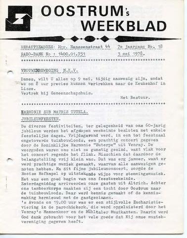 Oostrum's Weekblad 1978-05-03