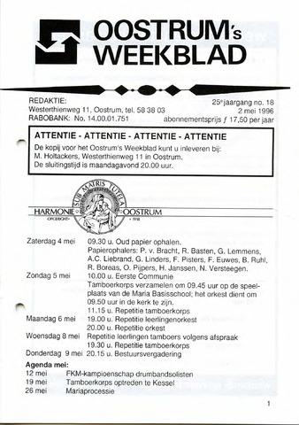 Oostrum's Weekblad 1996-05-02