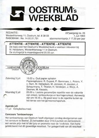 Oostrum's Weekblad 1993-07-01