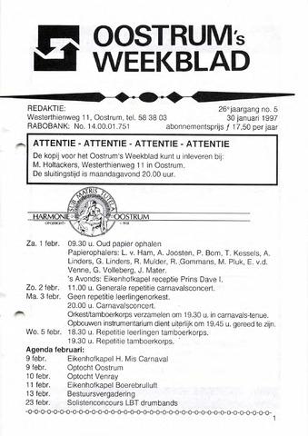 Oostrum's Weekblad 1997-01-30