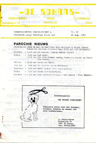 Castenrays dorpsblad De Schans 1983-08-12