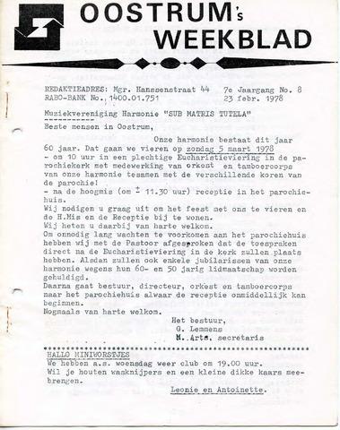 Oostrum's Weekblad 1978-02-23