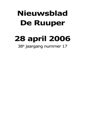 Dorpsblad Leunen-Veulen-Heide 2006-04-28