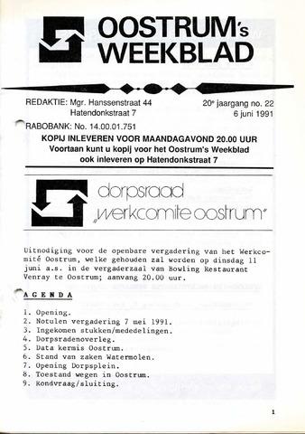 Oostrum's Weekblad 1991-06-06