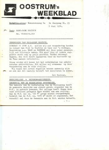 Oostrum's Weekblad 1974-06-07
