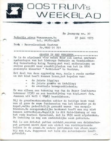 Oostrum's Weekblad 1973-07-27