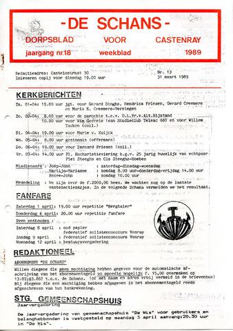 Castenrays dorpsblad De Schans 1989-03-31