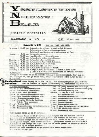 Ysselsteyns Nieuwsblad 1986-07-18