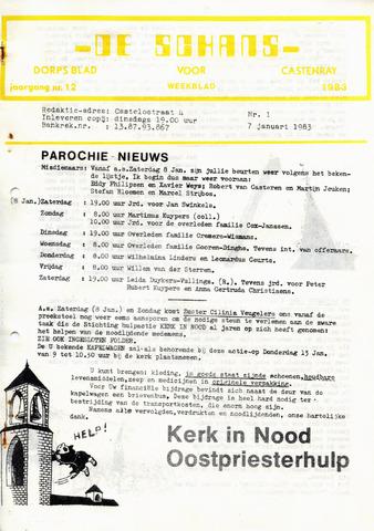 Castenrays dorpsblad De Schans 1983-01-07