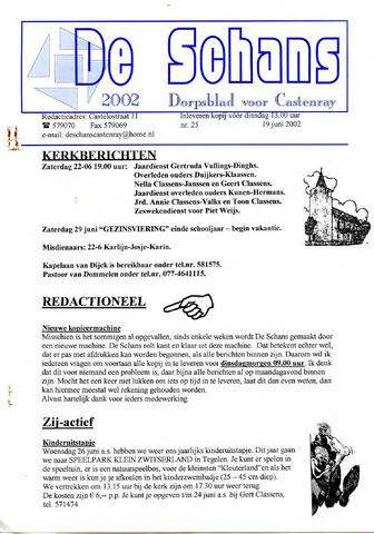 Castenrays dorpsblad De Schans 2002-06-19