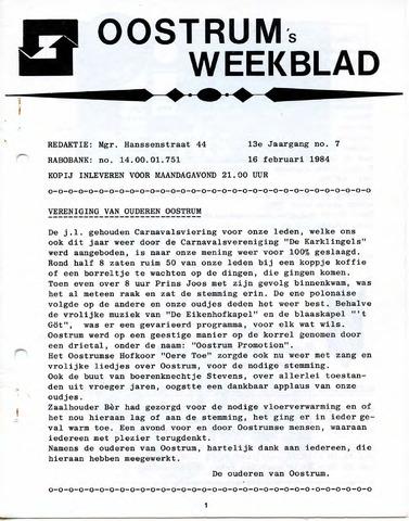 Oostrum's Weekblad 1984-02-16