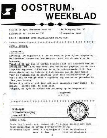 Oostrum's Weekblad 1983-08-18