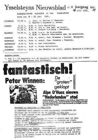 Ysselsteyns Nieuwsblad 1981-07-17