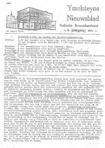 Ysselsteyns Nieuwsblad 1976-03-26
