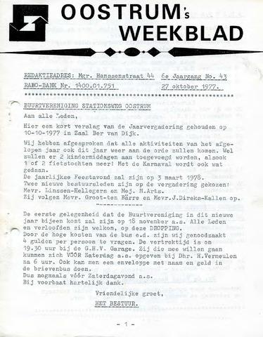 Oostrum's Weekblad 1977-10-27