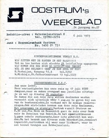 Oostrum's Weekblad 1973-07-06
