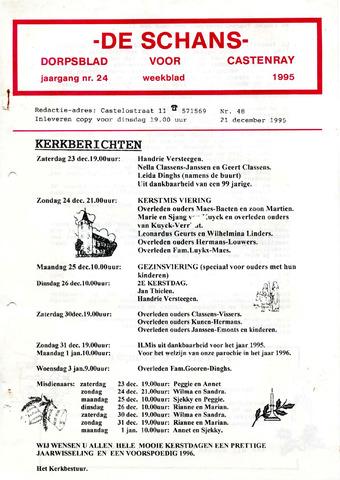 Castenrays dorpsblad De Schans 1995-12-21