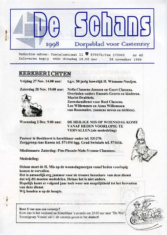 Castenrays dorpsblad De Schans 1998-11-26