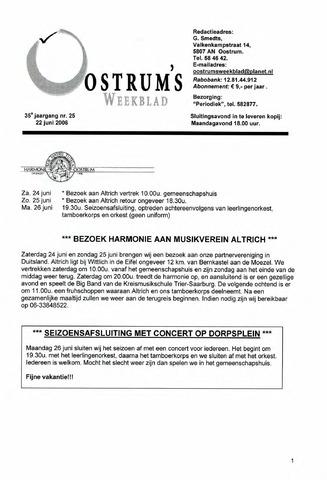 Oostrum's Weekblad 2006-06-22