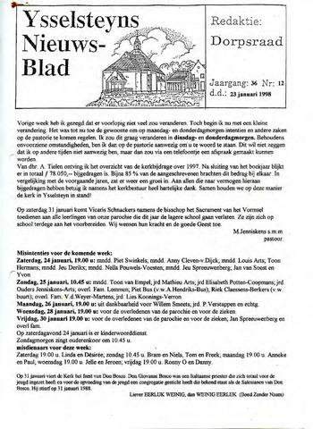 Ysselsteyns Nieuwsblad 1998-01-23