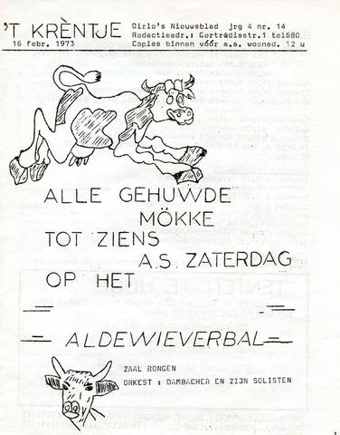 Oirlo's dorpsblad 't Krèntje 1973-02-16