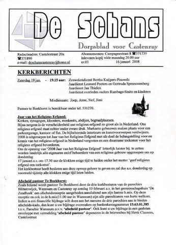 Castenrays dorpsblad De Schans 2008-01-16