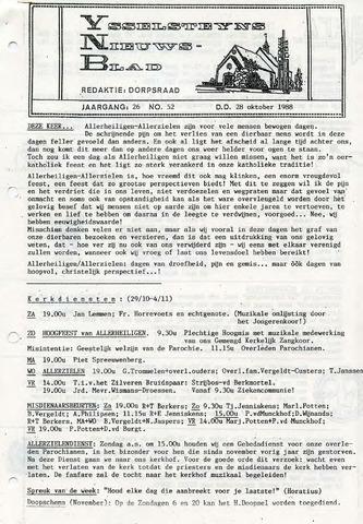Ysselsteyns Nieuwsblad 1988-10-28