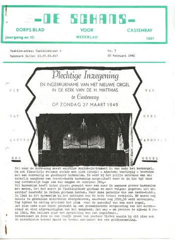 Castenrays dorpsblad De Schans 1981-02-20