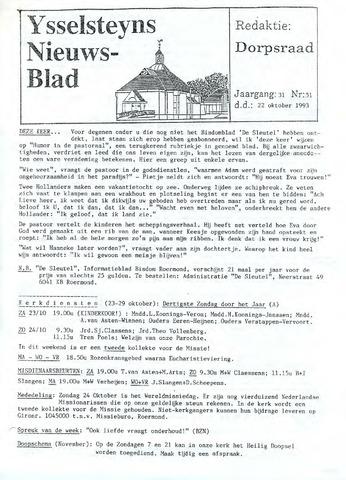Ysselsteyns Nieuwsblad 1993-10-22