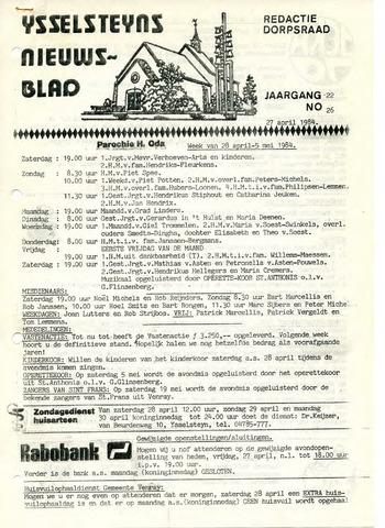 Ysselsteyns Nieuwsblad 1984-04-27