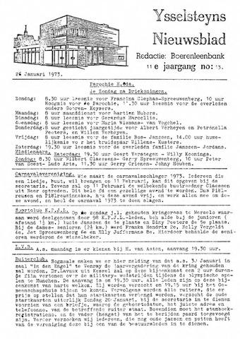 Ysselsteyns Nieuwsblad 1973-01-26