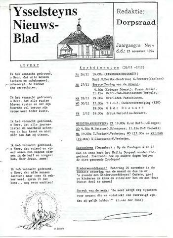 Ysselsteyns Nieuwsblad 1994-11-25
