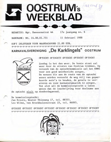 Oostrum's Weekblad 1988-02-11