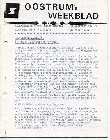 Oostrum's Weekblad 1978-06-22
