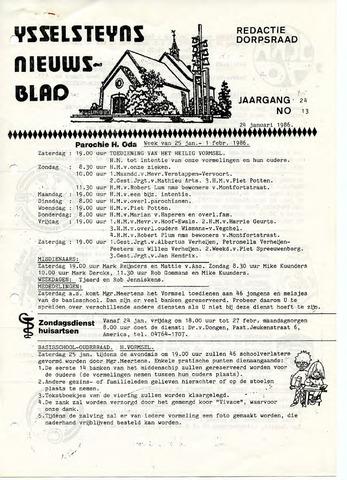 Ysselsteyns Nieuwsblad 1986-01-24
