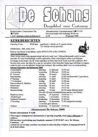 Castenrays dorpsblad De Schans 2009-01-28