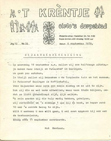 Oirlo's dorpsblad 't Krèntje 1979-09-06