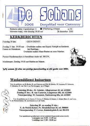 Castenrays dorpsblad De Schans 2000-12-28