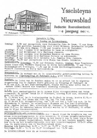 Ysselsteyns Nieuwsblad 1973-02-16