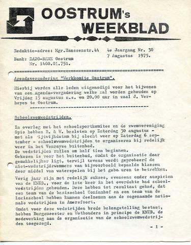 Oostrum's Weekblad 1975-08-07