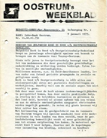 Oostrum's Weekblad 1975-01-09