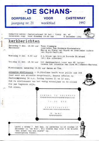 Castenrays dorpsblad De Schans 1992-12-04