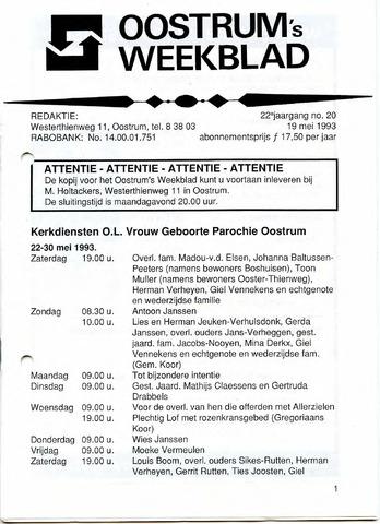 Oostrum's Weekblad 1993-05-19
