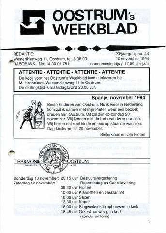 Oostrum's Weekblad 1994-11-10