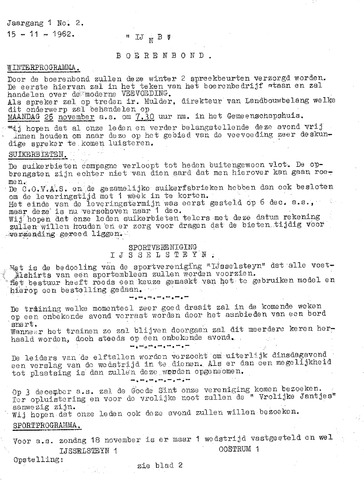 Ysselsteyns Nieuwsblad 1962-11-15